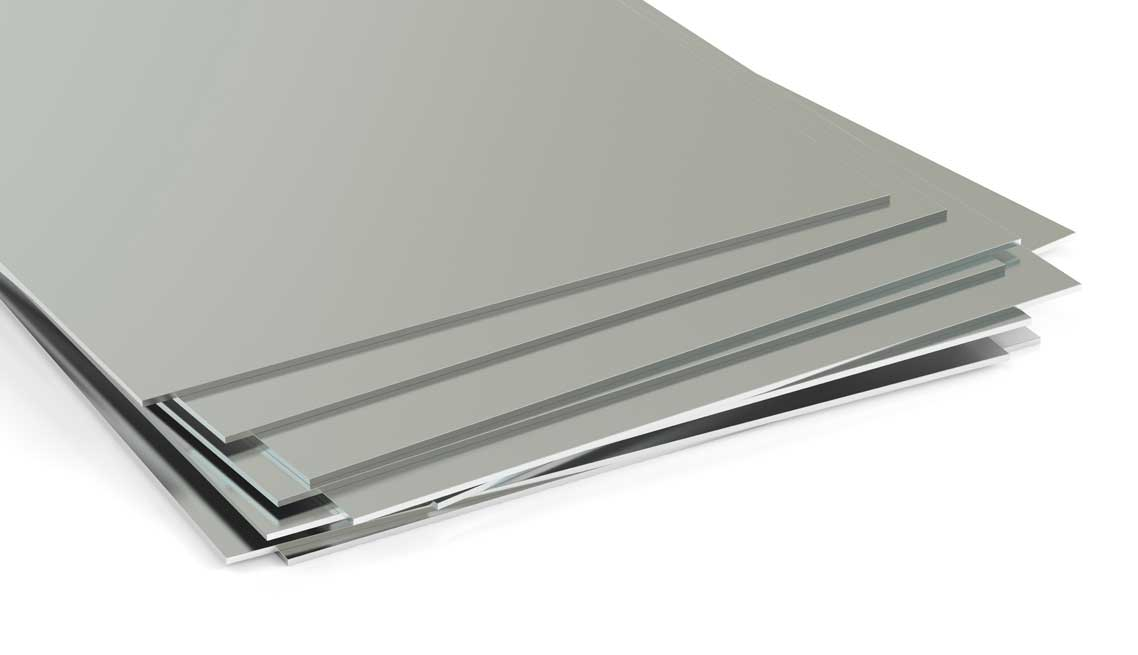 rolled metal, sheets. 3D rendering